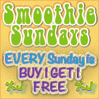 Every Sunday is SMOOTHIE SUNDAY!  Buy one smoothie and get one free all day long! Only at South Tampa's favorite smoothie shop - Xtreme Juice!